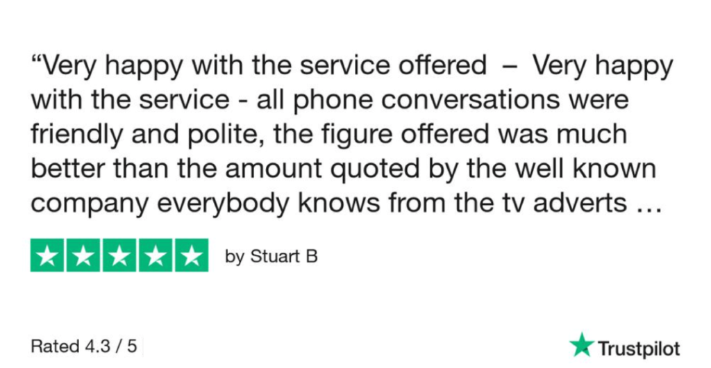 5-Star-Review-from-Stuart-for-Sell-My-Car-Essex-